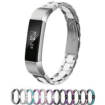 Amazon.com: Bandas de metal Fitbit Alta. Pulsera ajustable ...