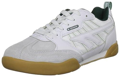 Hi-Tec Classic, Scarpe da Squash Unisex - Adulto, Bianco (White/Dark Green), 42.5 EU