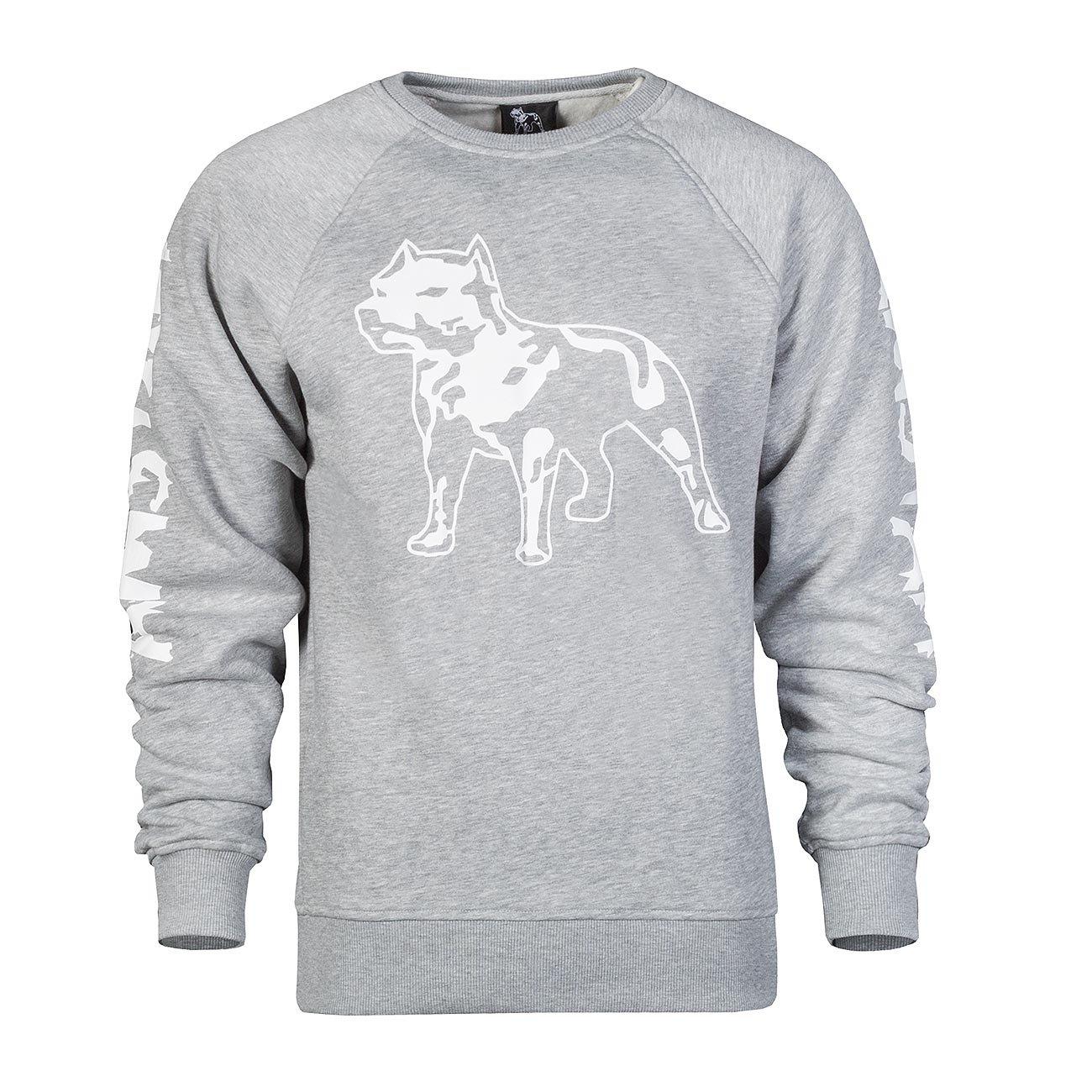 Amstaff Logo Sweater - Grau Herren Pullover Größe S M L XL XXL 3XL