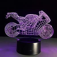 LEDMOMO 3D Lamp Nachtlampje Mood Licht Tafellampen Motorfiets