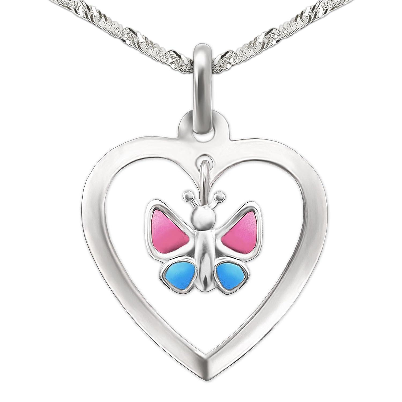 e394d44b51b7 ... plata de ley 925. 30% de descuento Clever Juego de joyas plateado  colgante de corazón 15 mm con Einhänger