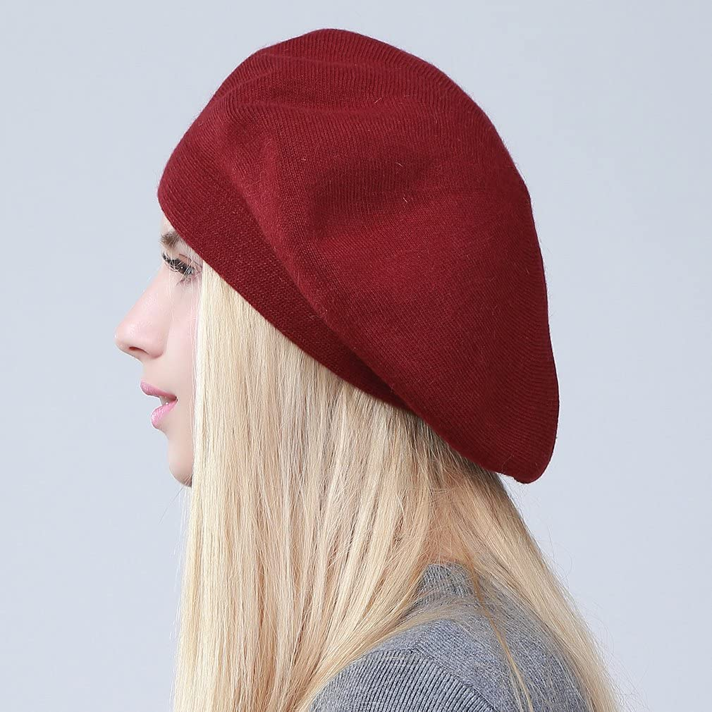 Women Wool Beret Solid Color Beanie Cap Warm Spring Winter French Hat Classic Blended Beret for Girls Casual Use