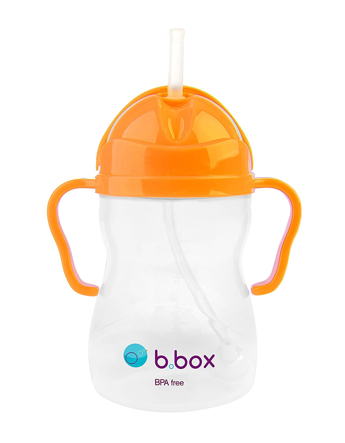 b.box straw Sippy Cup - Orange Zing - Neon Edition - 8 oz B. Box 9319064003812