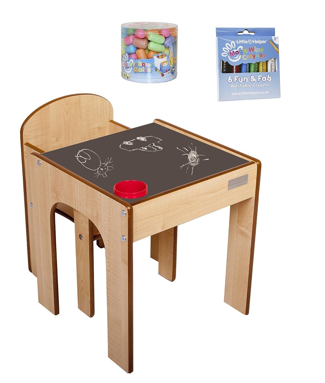 Little Helper FunStation in Acero / Spazzola Pot, Naturale/Rosso, con un piccolo aiutante la magia pulisce i pastelli e il mais magico Little Helper Ltd CP-FS01MCBUN-IT