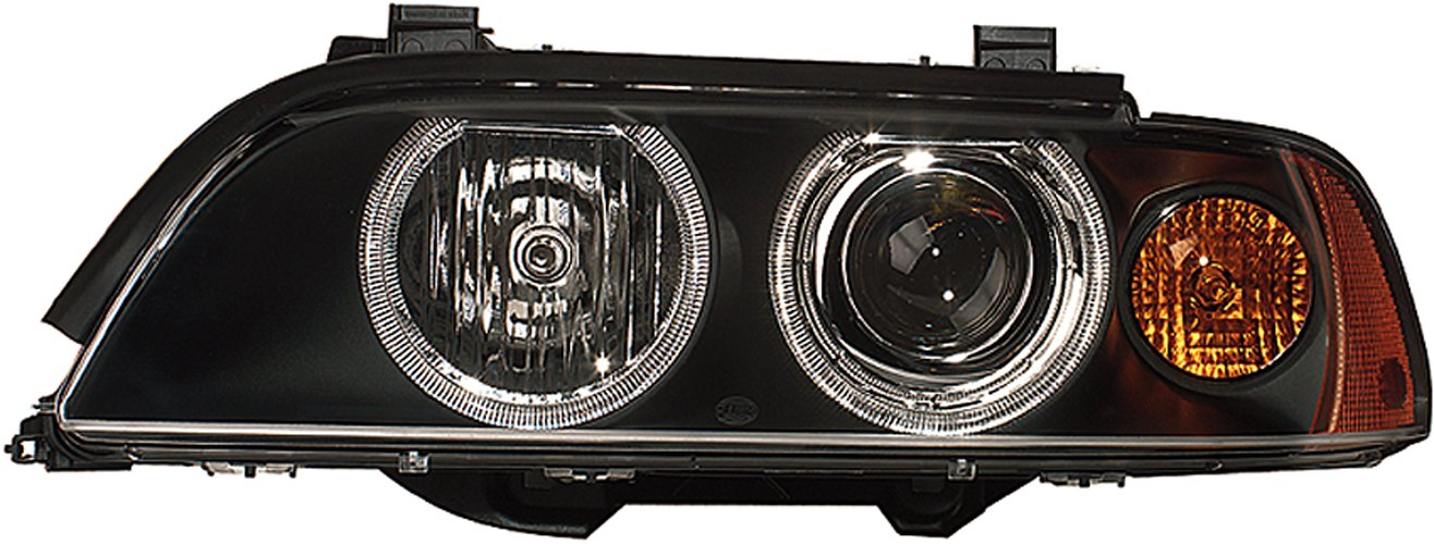 Left with bulbs Without bend lighting HELLA 1LL 008 053-591 Halogen Headlight with motor for headlamp levelling