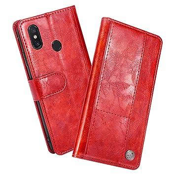 KALLOWLY Funda Completa Xiaomi Mi 8,Carcasa de Cuero con ...