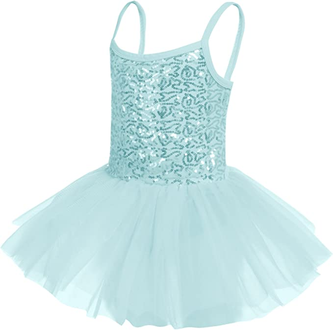 Arshiner Kids Girls Skirted Camisole Leotard Dance Ballet Tutu Dress