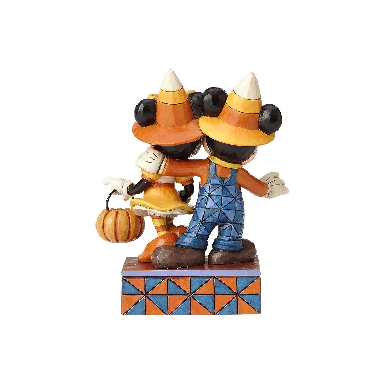 Enesco Jim Shore Disney Traditions Mickey Minnie Mouse Halloween Stone Resin Figurine
