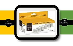 Keurig Water Filter Cartridges for Keurig B60, B65 - 6 Pack