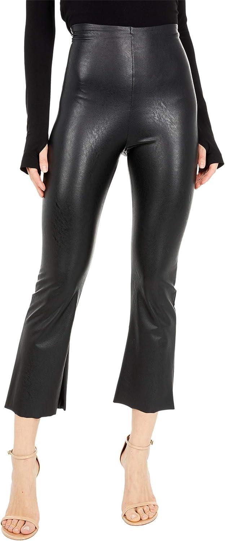 commando Women's Faux Leather Cropped Flare Leggings