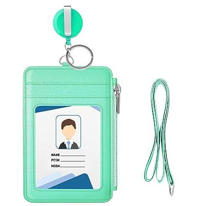4 Pcs schwarz klar Kunstleder ID Karten Sichthülle Ausweishülle Kartenhalter