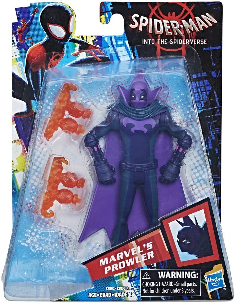 SPIDER-MAN INTO THE SPIDERVERSE MARVEL/'S PROWLER FIGURE HASBRO spider-verse
