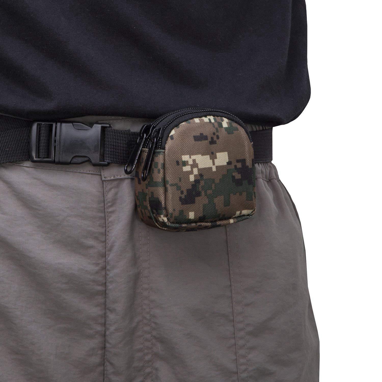 Black XZANTE Small Outdoor Pouch,Mini Purse Organizer Army Molle Gear Nylon EDC Utility Gadget Outdoor Waist Bag Cover for Change Men Women Waterproof Dual Layer Pockets