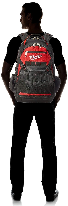 Milwaukee 48-22-8200 1680 Denier 35 Pocket Jobsite Backpack w// Laptop Sleeve and Molded Plastic Base
