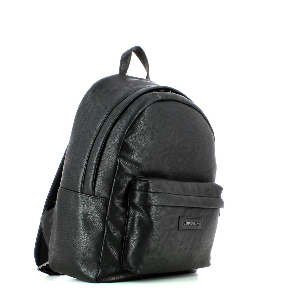 Armani Jeans Sac à dos en faux cuir Noir  Amazon.fr  Chaussures et Sacs baacbbf14aa