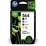 HP 564   4 Ink Cartridges   Black Cyan Magenta Yellow   DeskJet 3500 Series Officejet 4600 5500 C6300 6500 7500 Series B8550