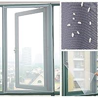 Cirdora Vliegengaas voor ramen, insectenbescherming met zelfklevend, vliegen net zonder boren, antraciet (doorzichtig…