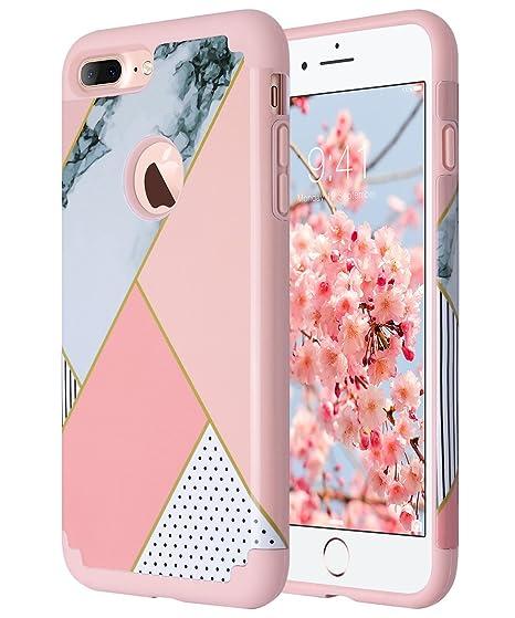 iPhone 7 Plus Funda, ULAK iPhone 7 Plus Caso Carcasa Cubierta resistente a la protección antideslizante de la PC TPU de la protección resistente para ...