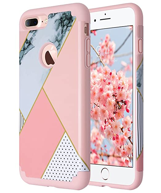 ULAK iPhone 7 Cover iPhone 7 Custodia Ibrida a Protezione