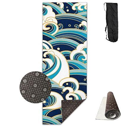 Amazon.com : Japanese Waves Foam Splashes Yoga Mat Towel For ...