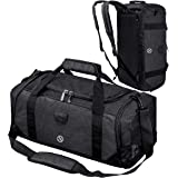 Gym Bag Backpack Waterproof Duffle Bag Travel Weekender Duffel Bag for Men Women, Black (Black) - 1999
