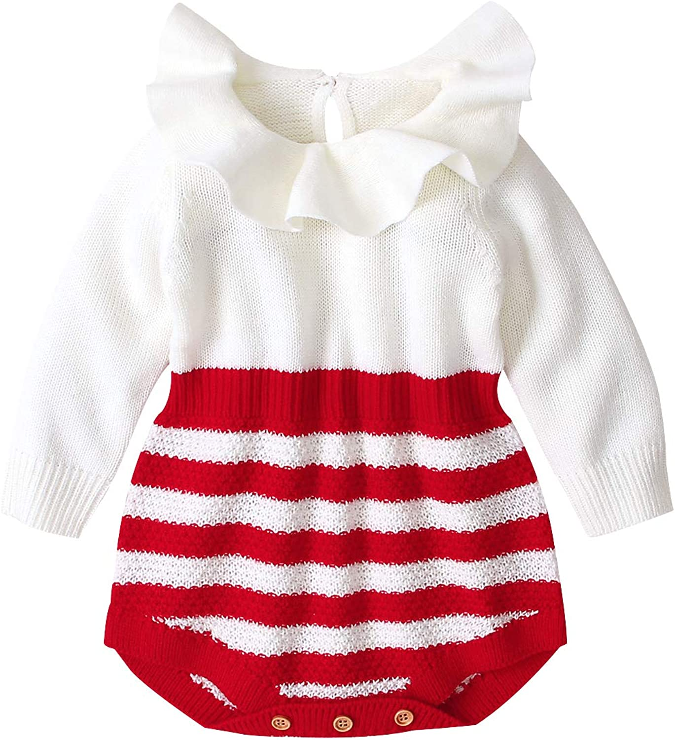 Baby Girl Sweater Rompers Infant Knitted Long Sleeve One-Piece Rompers  Bodysuit Jumpsuit Fall Winter Clothes
