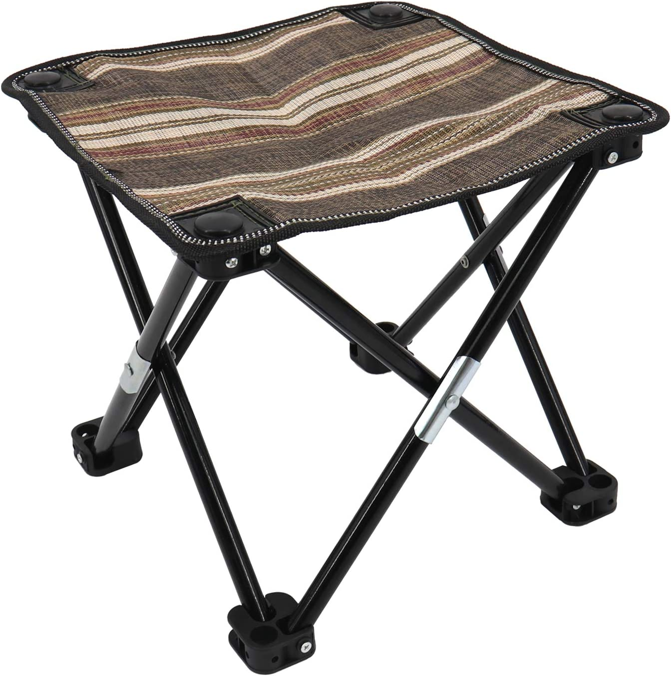 JM Outdoor Mini Folding Chair Portable Stool for Camping Fishing Party BBQ Travel Hiking Beach Garden 600D Oxford Waterproof Cloth Folding Lightweight Stool Chair