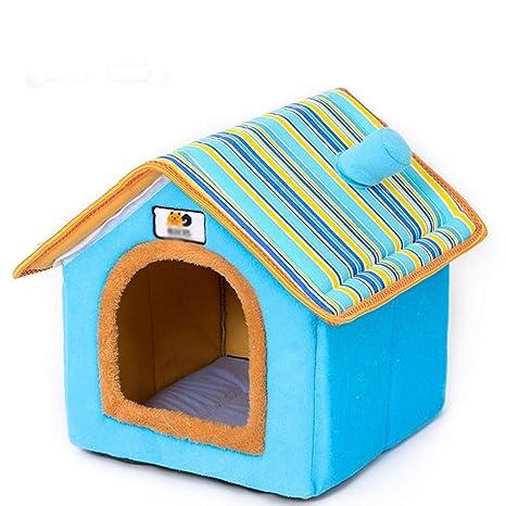 LBTSQ-Caseta De Perro Perro Pequeño Pet Kennel Cuatro Estaciones General Desmontable Pet House Cerrado