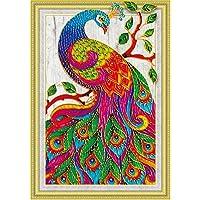 Domybest Peacock 5D Diamond Painting Embroidery DIY Cross Stitch Craft Home Decor