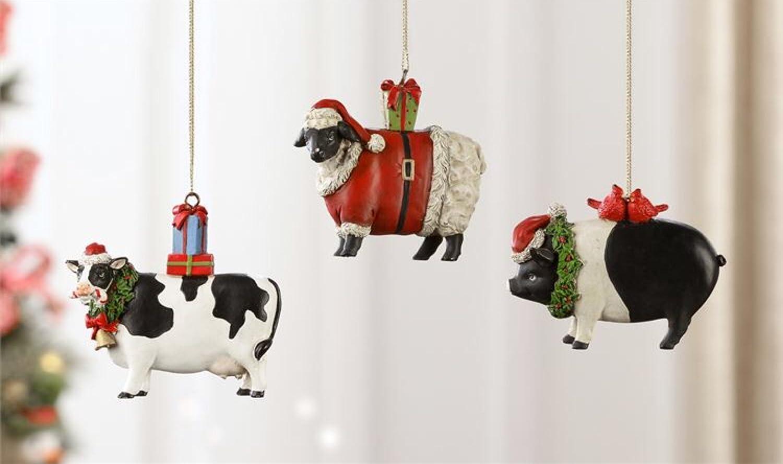 Unique Christmas Ornaments.Amazon Com Unique Christmas Ornaments Farm Animals Country