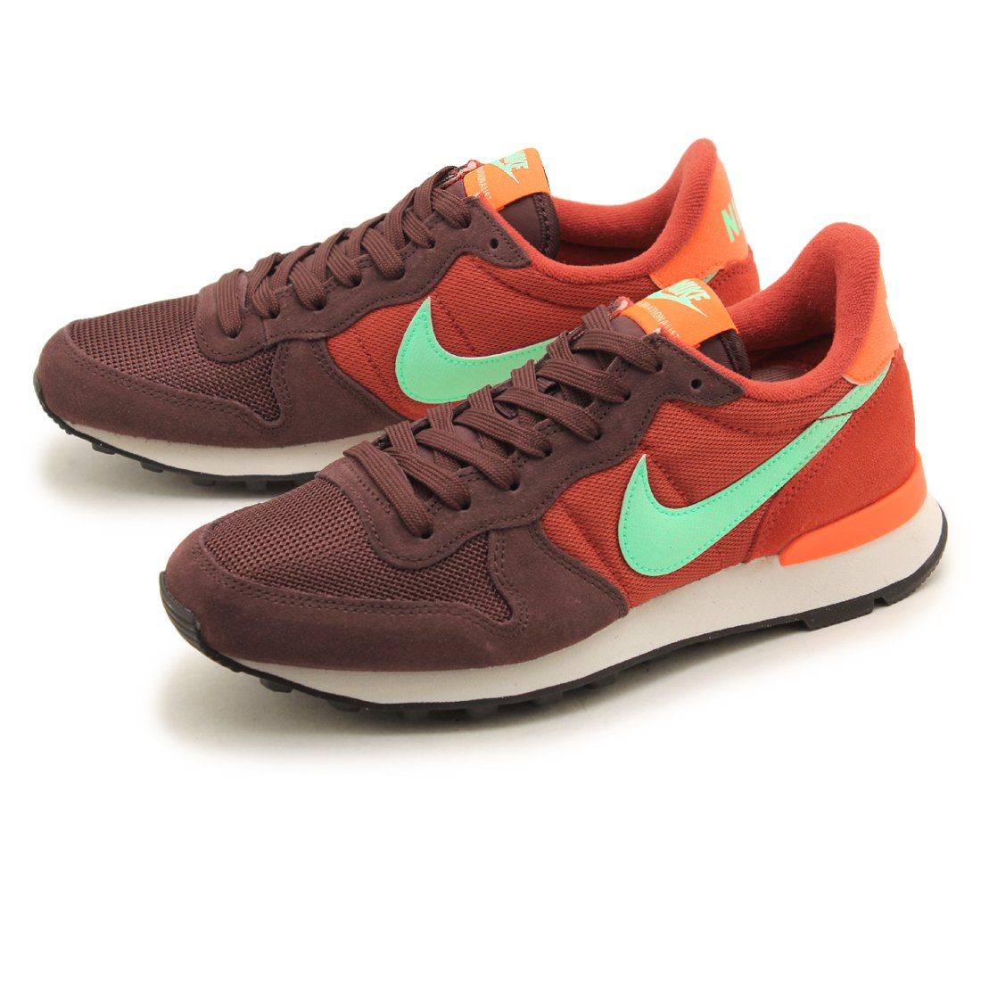 online retailer 2d1b5 2cdb4 Amazon.com  Nike Womens Wmns Internationalist, MAHOGANYGREEN  GLOW-CINNABAR-TOTAL ORANGE, 6 US  Road Running