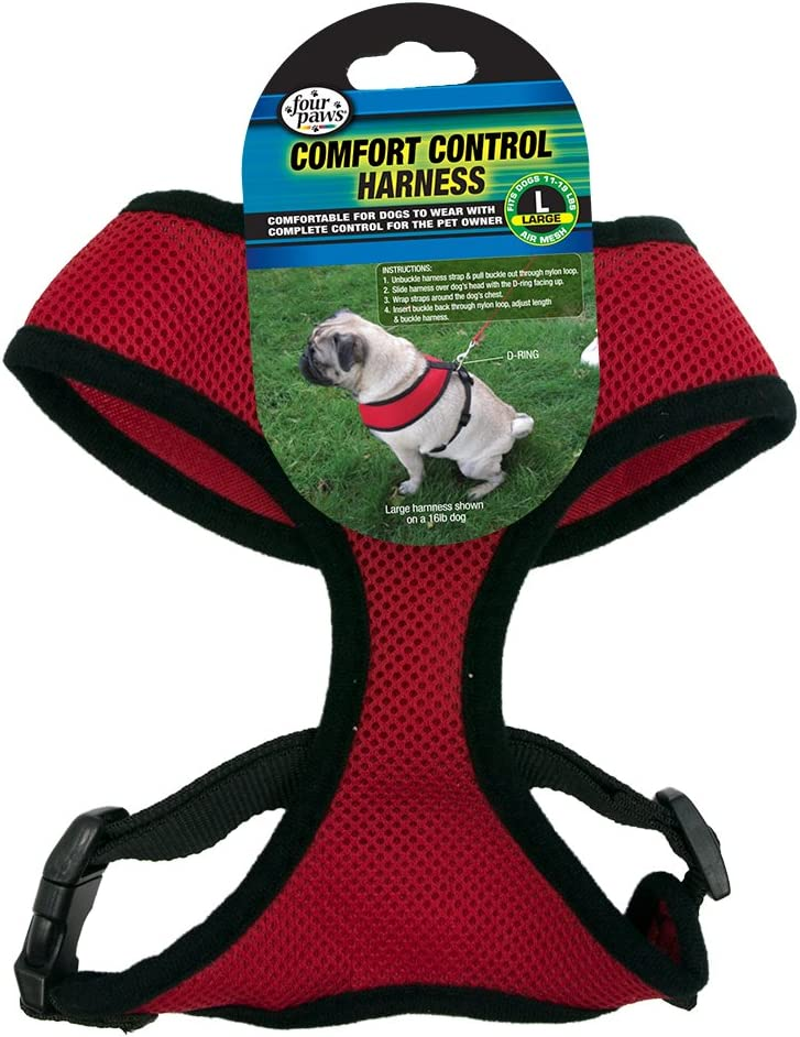 Four Paws Large Black Comfort Control Dog Harness