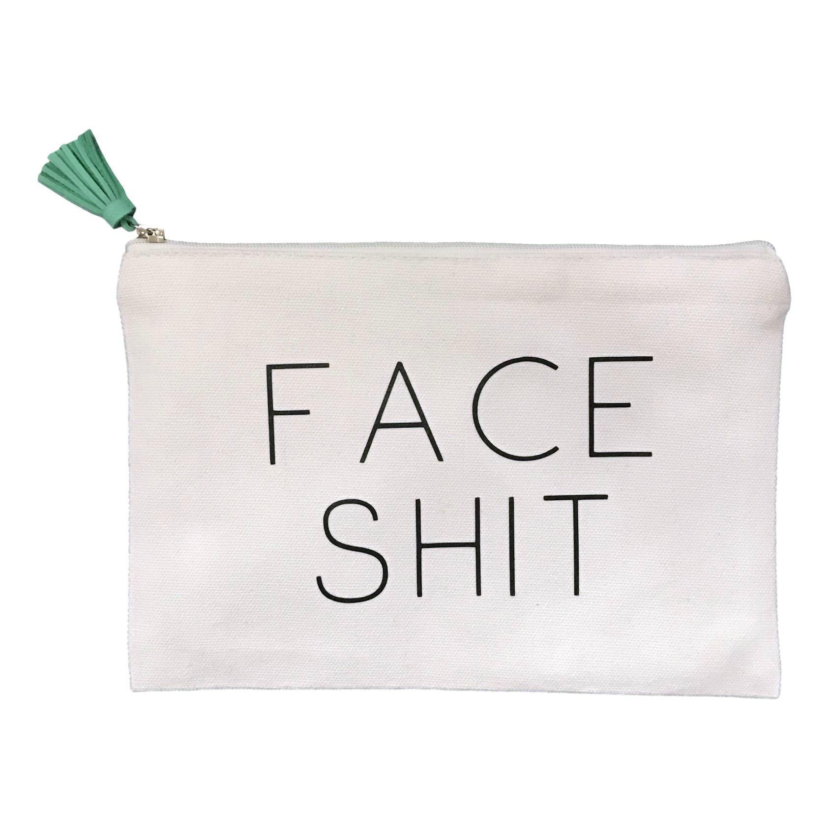 Face Shit Makeup Bag w/Tassel