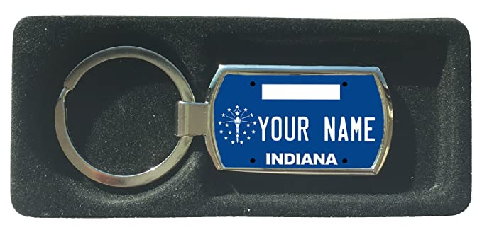 BleuReign(TM) Personalized Custom Name New York State License Plate Metal Keychain