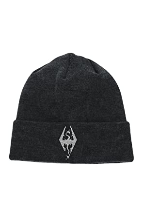 Image Unavailable. Image not available for. Colour  Skyrim Dragon Symbol  Beanie Hat 12848fccbf37