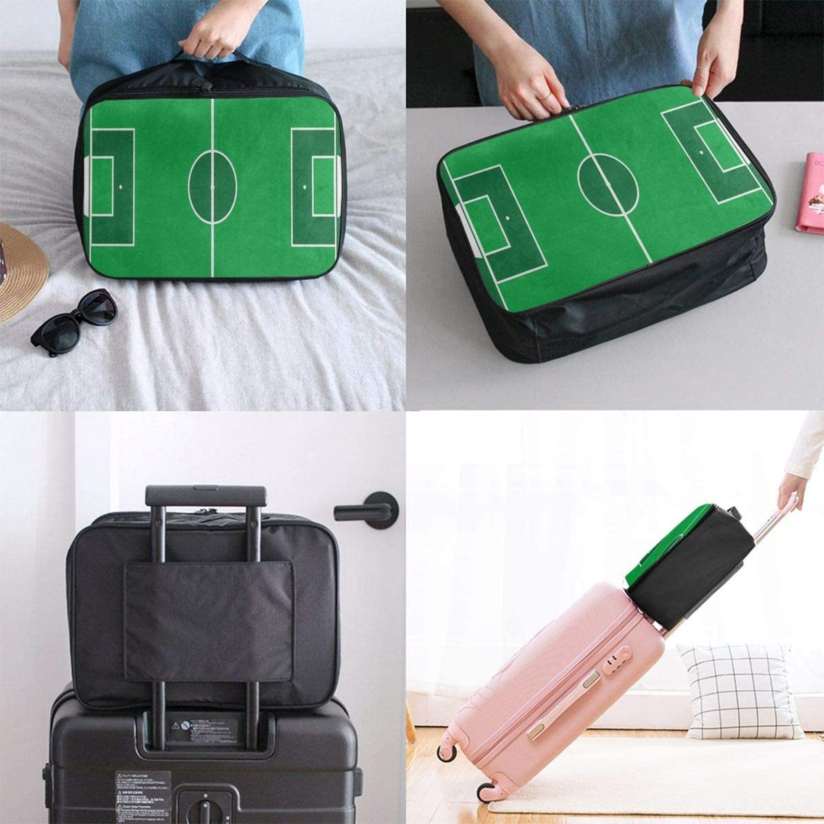 Travel Bags Soccer Football Field Portable Foldable Fantastic Trolley Handle Luggage Bag