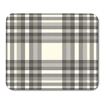 fd140064f3 Emvency Mouse Pads Beige Rustic Tartan Plaid Pattern Traditional Checkered  in Palette of Brown Gray and