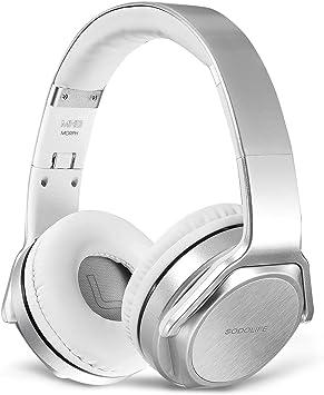 Auriculares inalámbricos 2 en 1: Auriculares y Altavoz, Auriculares Bluetooth Sodolife con Almohadillas de proteínas cómodas: Amazon.es: Electrónica