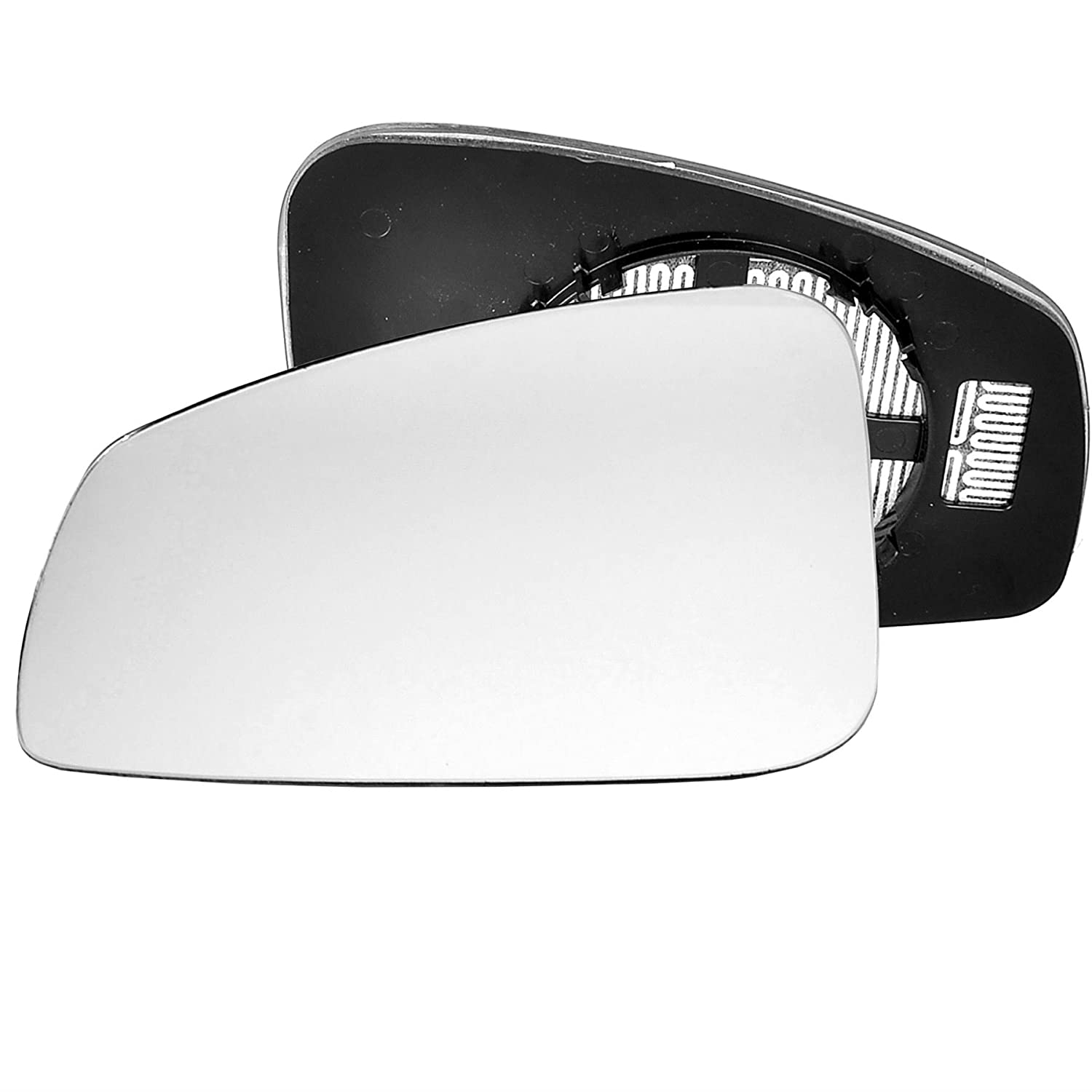 Passenger left hand side Heated wing door Silver mirror glass with backing plate #C-SHY/L-RTME08 [Clip On] Sylgab