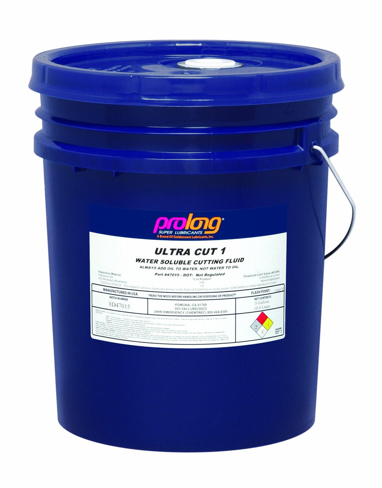 Prolong Super Lubricants PSL47015 Ultra Cut 1 Water Soluble Cutting Fluid - 5 Gallon