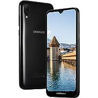 DOOGEE X90 Móviles Libres, Android 8.1 Smartphones Libres Dual SIM 19:9 Pantalla 6.1'', 3400mAh Batería, Quad-Core 1GB RAM+16GB ROM, Cámara Doble 8MP+5MP Telefono Reconocimiento Facial 3G, Negro