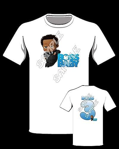 Amazon Boss Baby African American Personalized Birthday Shirt 3 Handmade
