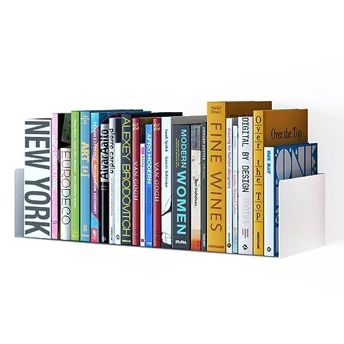 Wallniture Bali Sturdy Metal U Shape Bookshelf   Wall Mountable CD DVD  Storage Multi Purpose