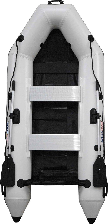 Prowake - Barco Hinchable con Motor: RIB280 Pro AQUAPARX, Bote Hinchable Blanco, 280 cm de Largo y Motor fueraborda Yamaha F5AMHS: Amazon.es: Deportes y aire libre
