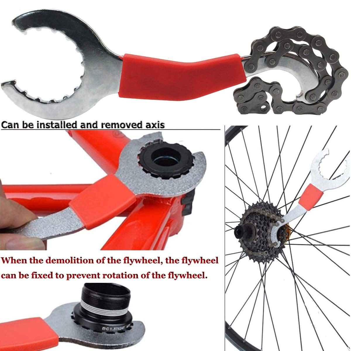 Chain Cutter//Chain Removel//Bracket Remover//Freewheel Remover//Crank Puller Remover 2TRIDENTS 5 Pcs Bicycle Repair Tool Kits Black