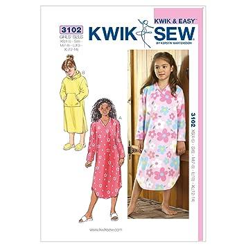 Kwik Sew Mustern K3102 4–5 Größe XS – S 6 – M 7–8 – L 10 – Extra ...