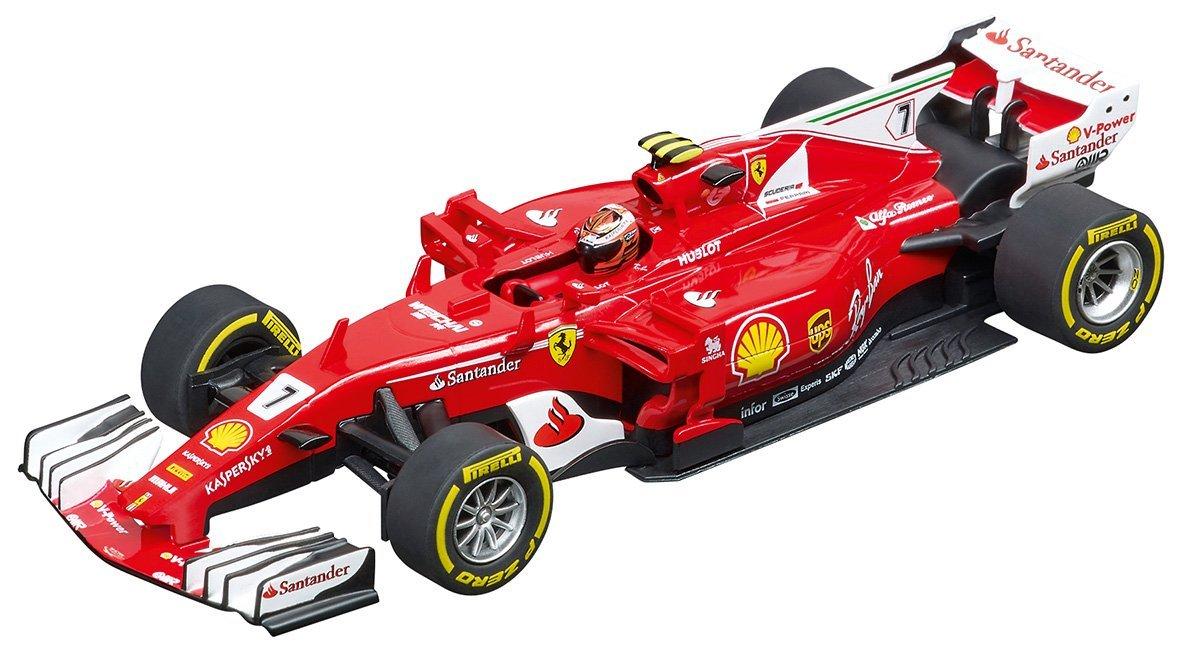 Carrera USA 20030843 Digital 132 Ferrari SF70H K.Räikkönen No.7 Slot Car Racing Vehicle, Red