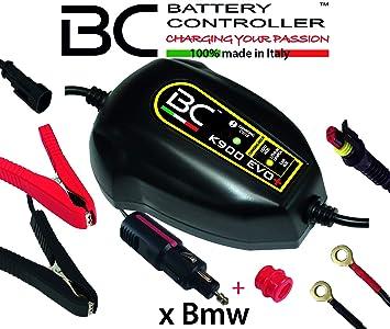 BC Battery Controller BC K900 EVO+, Cargador de baterías y Mantenedor Inteligente para Motos BMW con sistema CAN-Bus, y para todas las baterías de 12V ...