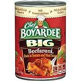 Chef Boyardee Big Beefaroni, 14.75 oz, 12 Pack
