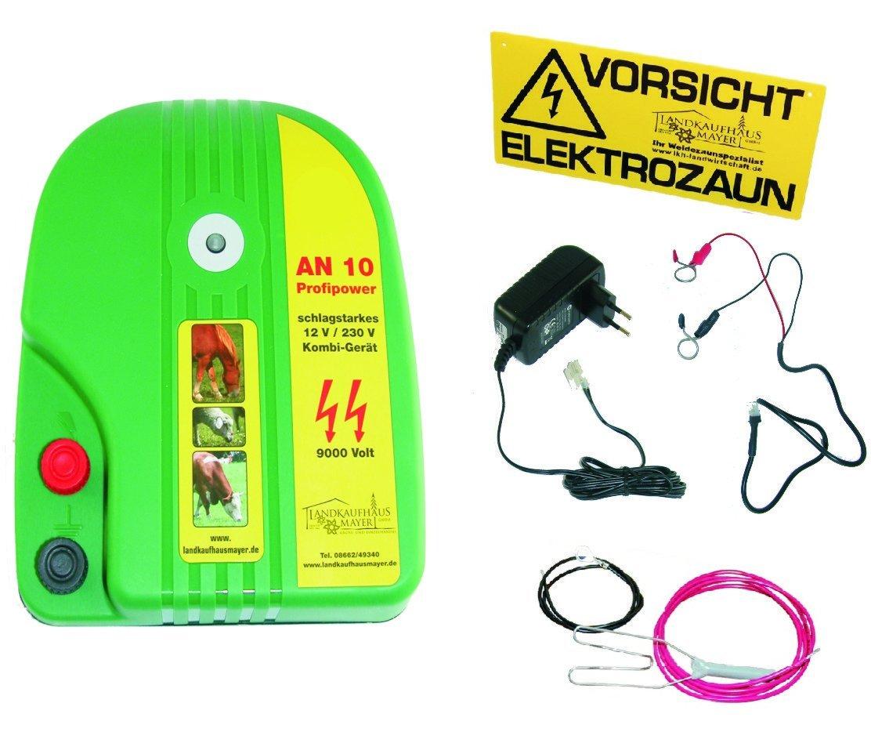12Volt Autobatterie oder 230 Volt Weidezaungerät *Profipower* AN 10